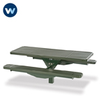 Signature Series Picnic Table - Single Pedestal- Inground