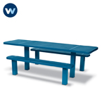 Signature Series Picnic Table  8' ADA Accessible Table  Multi Pedestal- Inground