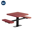 "Signature Series 30"" Square Table with 2 Seats - Surface Mount"