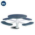 Signature Series 46 inch Round Pedestal Table with 4 Seats - Superior Frame - Inground