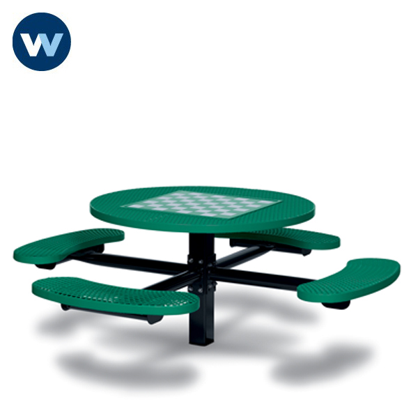 Specialty Series Game Tables - 46 inch Round Signature Style - 4 Seats - Basic Frame - Inground