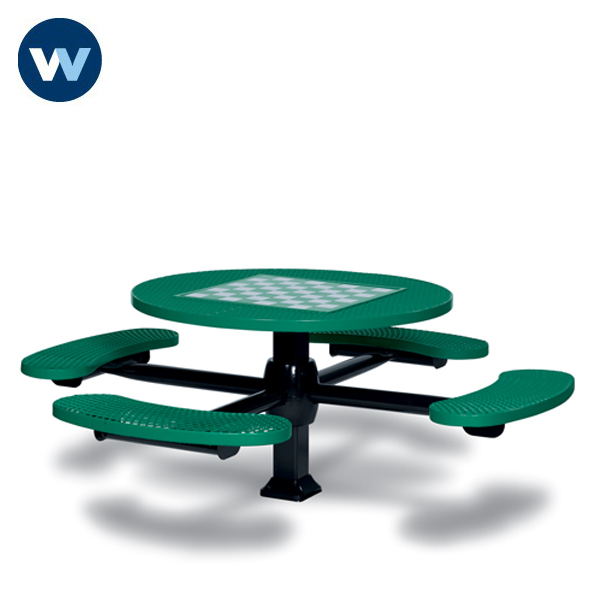 Specialty Series Game Tables - 46 inch Round Signature Style - 4 Seats - Superior Frame - Inground