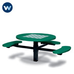 Specialty Series Game Tables - 46 inch Round Signature Style (ADA Accessible) - 3 Seats - Basic Frame - Inground