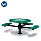 Specialty Series Game Tables - 46 inch Round Signature Style (ADA Accessible) - 3 Seats - Superior Frame - Inground