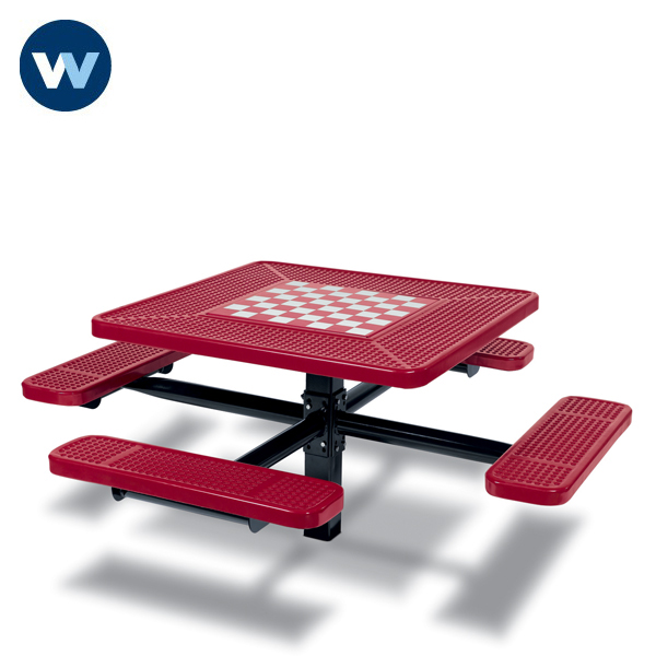 Specialty Series Game Tables - 46 inch Square Signature Style - 4 Seats - Basic Frame - Inground