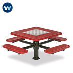 Specialty Series Game Tables - 46 inch Square Signature Style - 4 Seats - Superior Frame - Inground