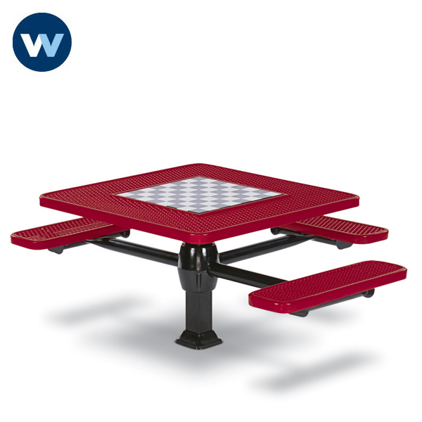 Specialty Series Game Tables - 46 inch Square Signature Style (ADA Accessible) - 3 Seats - Superior Frame - Inground