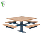 Green Valley - Square Table 4 Seats -  Inground or Surface Mount