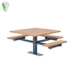 Green Valley - Square Table  2 & 3 Seat - Inground or Surface Mount