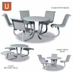 Portage Collection - 42 inch ADA Accessible Tables with Attached Seating