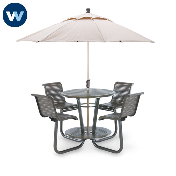 Camino Series - 42 inch Bar Height Outdoor Table with Chairs - Portable