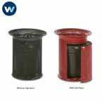 Wabash - 32 Gallon Receptacle - Flare Top