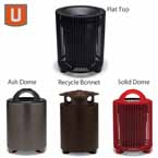 "Urbanscape - ""E"" Style 32 Gallon Receptacle with Liner"