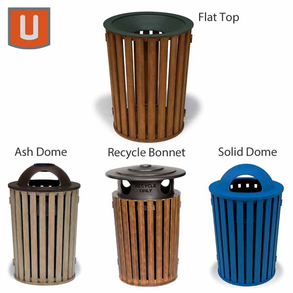 "Urbanscape - ""FG"" Style 32 Gallon Receptacle with Liner"