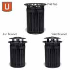 "Urbanscape - ""J"" Style 32 Gallon Receptacle with Liner"