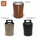 Urbanscape - Woodridge Collection 32 Gallon Receptacle with Liner