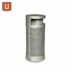 "Urbanscape - ""M"" Style Receptacle with Side Door - Portable/Surface mount"