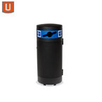 "Urbanscape - ""M"" Style Receptacle - Recycle Unit Option - with Side Door - Portable/Surface mount"